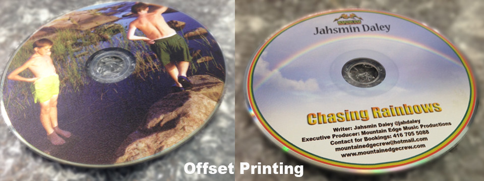 Offset full colour print, like printing on paper