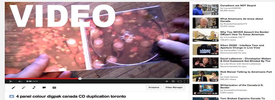 CD Duplication Toronto Video