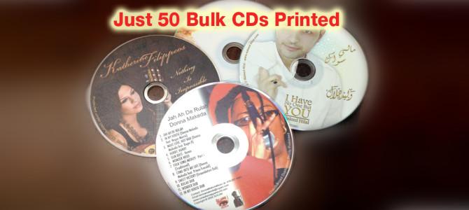 100 Full Colour CDs in Bulk