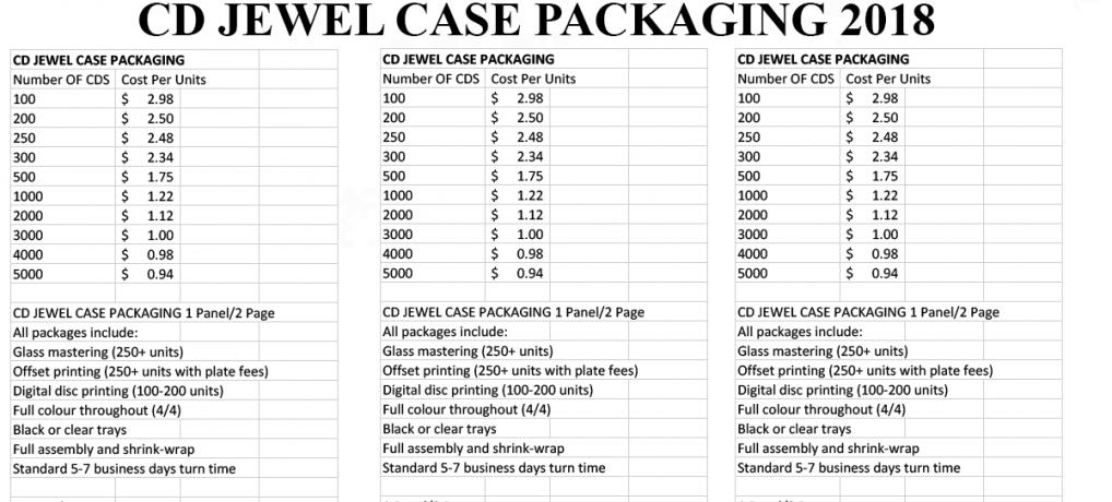 CD JEWEL CASE PACKAGING 2018