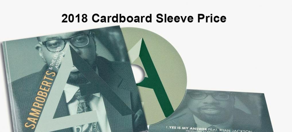 2018 Custom CD Printed Cardboard Sleeve Price