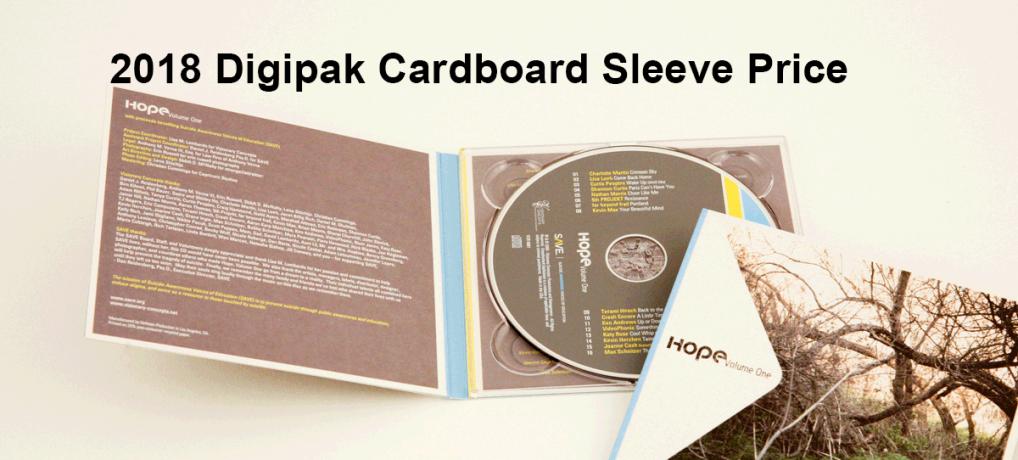 2018 Digipak Cardboard Sleeve Price