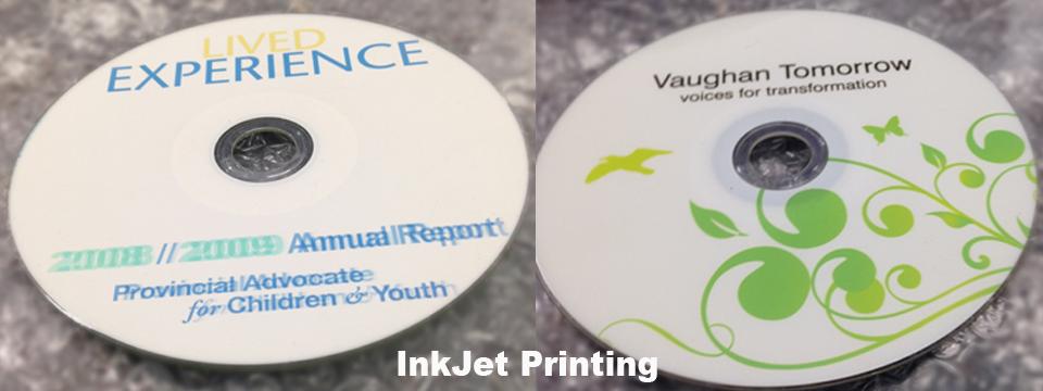Colour InkJet Bulk CD Duplication Toronto