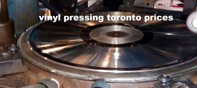 vinyl pressing toronto prices