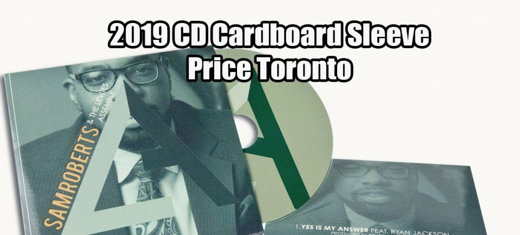 2019 CD Cardboard Sleeve Price Toronto
