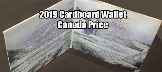 2019 Cardboard Wallet Canada Price